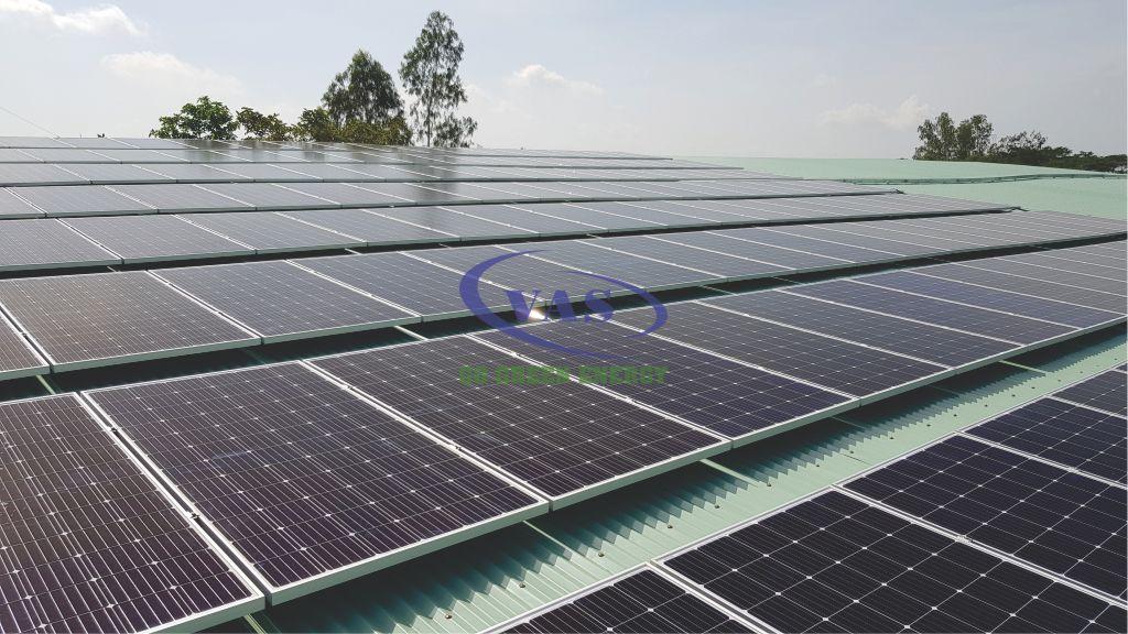 Hệ Thống điện Mặt Trời Hòa Lưới 130 KW Nhà Máy Nước Đa Phước – VAS